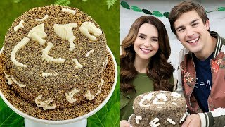 Download DINOSAUR FOSSIL CAKE ft MatPat! - NERDY NUMMIES Video