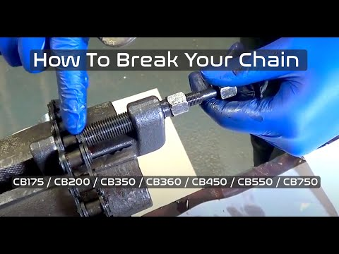 How to Break / Cut Motorcycle Chain for Honda CB350  CB360  CB450