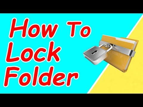 how to lock folder and hide folder's in computer without any software in hindi/urdu