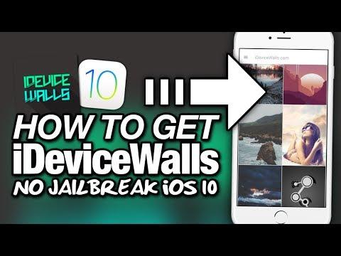 How To Get iDeviceWalls NO JAILBREAK On iOS 10 - Best WALLPAPER APP?