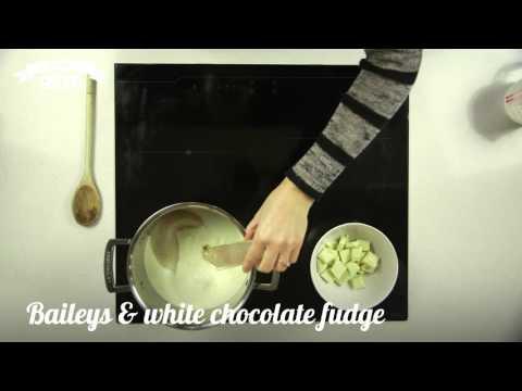 How to make: Baileys and white chocolate fudge