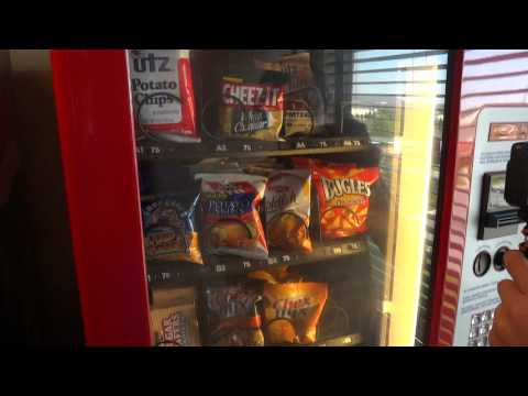 Cannycart gets Pretzels out of the vending machine!