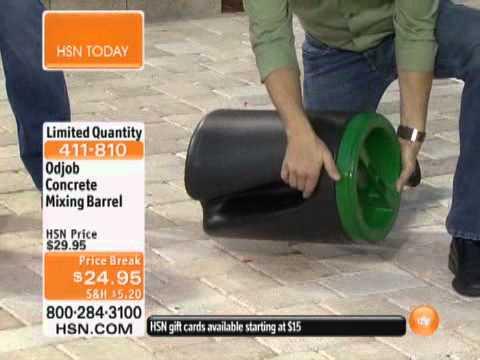 Odjob DIY Concrete Mixing Barrel