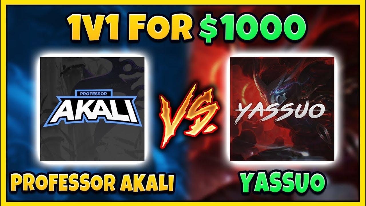 PROFESSOR AKALI VS. YASSUO 1v1 FOR $1,000! EPIC BEST OF 5 FINALE!!! - League of Legends