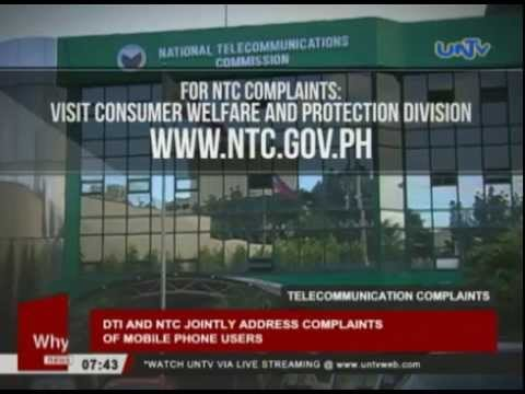 DTI and NTC jointly address complaints of mobile phone users