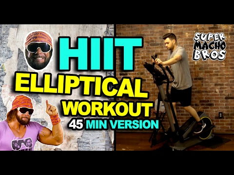 FASTEST WAY TO LOSE WEIGHT - ELLIPTICAL HIIT WORKOUT  (45 minute version)