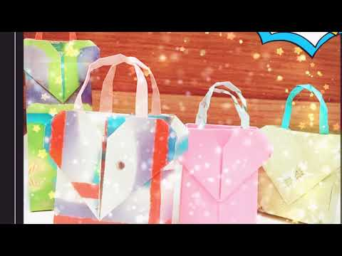 How to Fold a Paper Heart Gift Bag or Valentine Gift Bag (easy) 👍💕