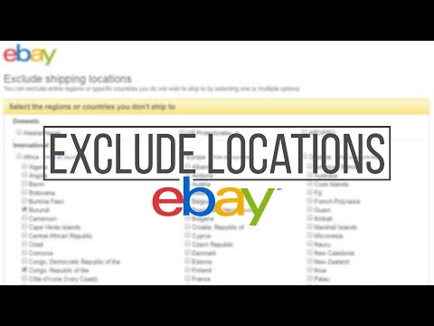 How to exclude shipping locations on eBay | Shipping preferences | Buyer requirements