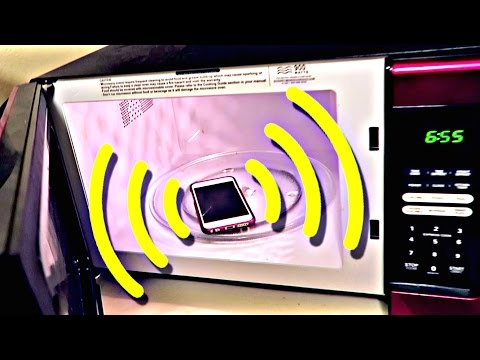 Can you call a cell phone in the microwave?