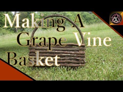 Grape vine basket