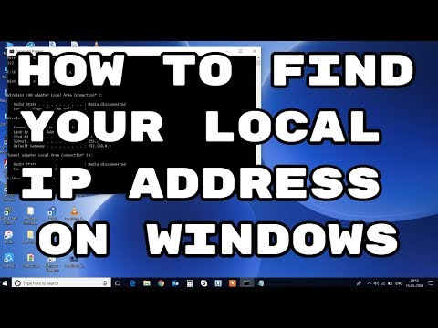 find your local IP Address on windows pc