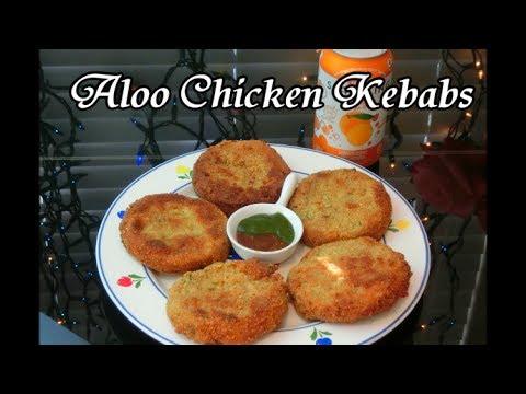 Aloo Chicken Kebabs