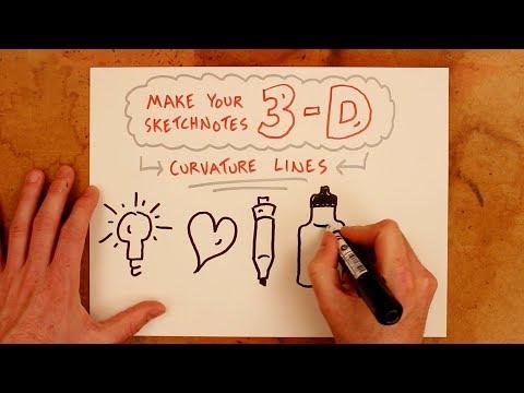 Make Your Sketchnotes 3-D