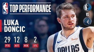 Luka Doncic Stuffs The Stat Sheet In Minnesota | January 11, 2019
