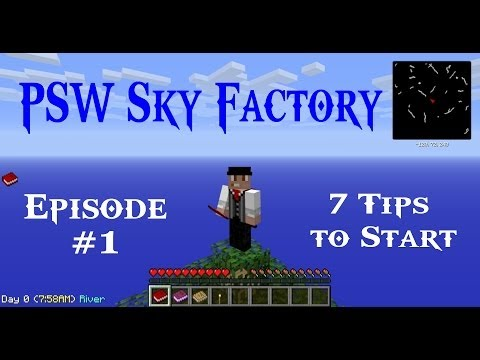 Minecraft Sky Factory Ep #01 - 7 Tips to Start - Barrels, Crook, AFK Safety! (HD)