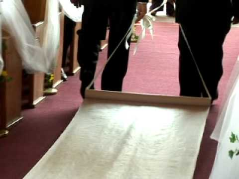 Lace Aisle Runner Laid Out