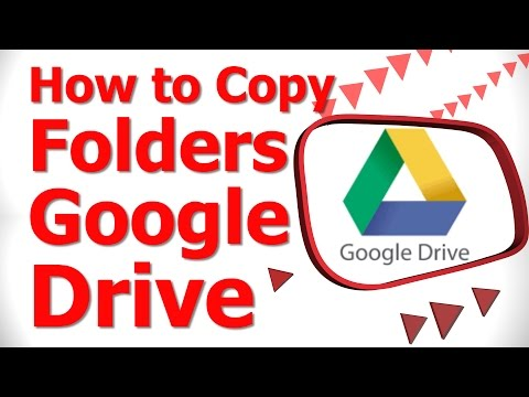 How to Copy Folders Google Drive