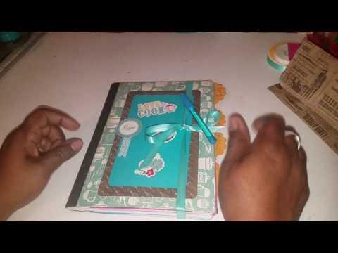 DIY - Composition Notebook into a Recipe Book