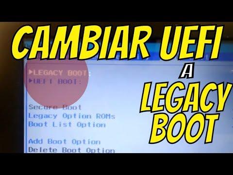Como Cambiar Modo UEFI de Arranque a Legacy En Laptop DELL - UEFI Boot - Legacy Boot - Secure Boot