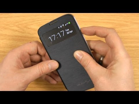 Official Samsung Galaxy S4 S-View Cover Review - Black