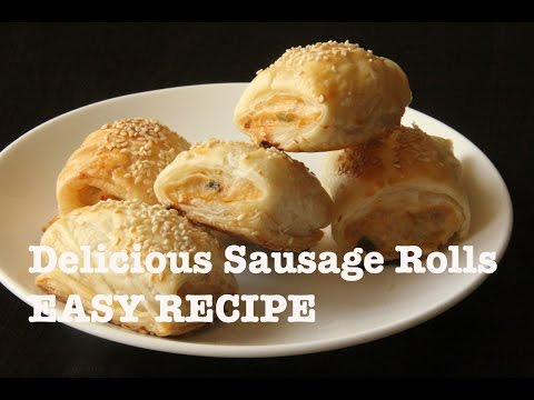 Sausage Rolls With Chicken and Leek. Easy and Delicious.
