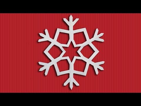 How to Make a Beautiful Paper Snowflake for Christmas Decorations (Christmas Crafts) DIY