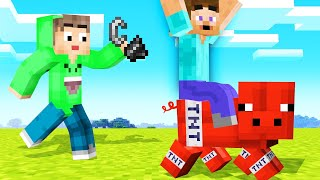 MINECRAFT But MOBS Are Made Of TNT! (Help!)