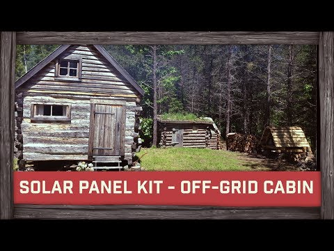 Cheapest Solar Panel Kit EVER For Off-Grid Cabin!