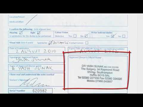 ENG-1 Seafarer Medical Certificate