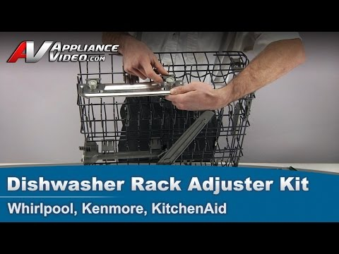 Whirlpool, Kenmore, KitchenAid - Dishwasher Replacement Rack Adjuster Kit # W10712394 V-rail