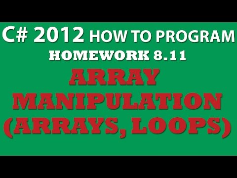 8-11 C# Array Manipulations (working with arrays in C#)