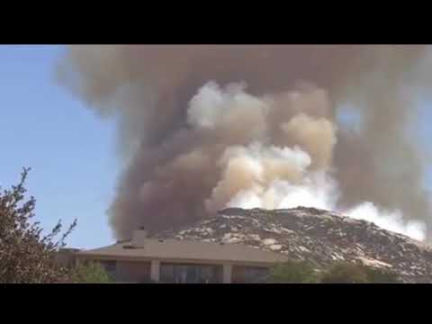Brush fire chars 250 acres in Campo San Diego CA