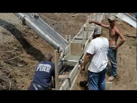 Pour Concrete Footings Foundation - 6 - My Garage Build HD Time Lapse
