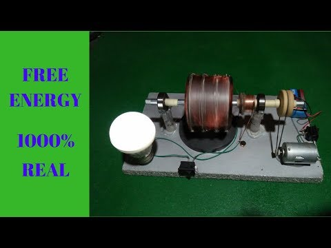 How to Make Free Energy Generator Light Bulb With Magnet 12v Powerful Motor Easy Project  2018