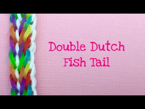 Rainbow Loom Bands Double Dutch Fishtail Tutorial