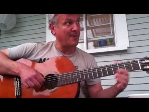 Fingerpicking guitar exercise