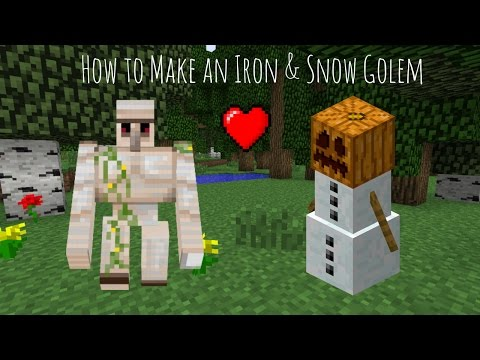 How to Make an Iron & Snow Golem in Minecraft! | BabyG