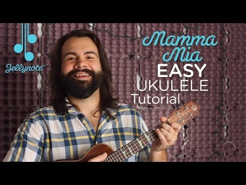 Mamma Mia by ABBA - A Chord Ukulele tutorial for Beginners (Easy Jellynote Lesson)