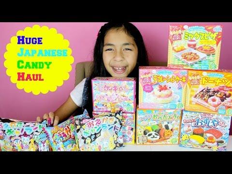 Huge Japanese Candy Haul Popin' Cookin' Happy Kitchen Pizza Suhi Candy Krazie Poppin'  B2cutecupcake