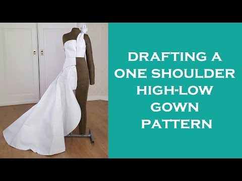 Design a One Shoulder High-Low Gown Pattern