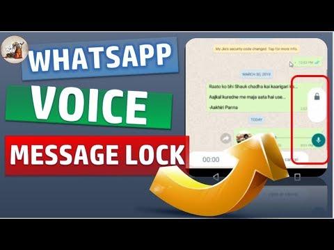 Whatsapp voice message lock : WhatsApp latest update