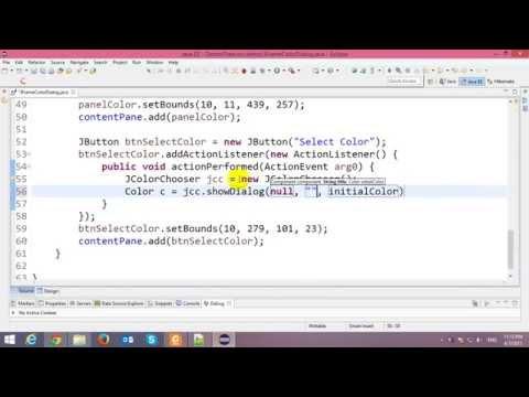 Color Chooser Dialog in Java Swing Application