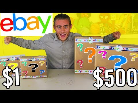 $1 VS $500 EBAY MYSTERY BOX CHALLENGE UNBOXING!! 📦⁉️ Toys & More!!
