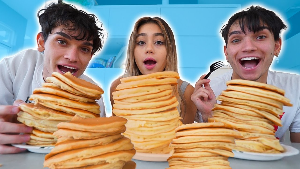 WHO CAN EAT THE MOST PANCAKES? w/ Lucas and Marcus
