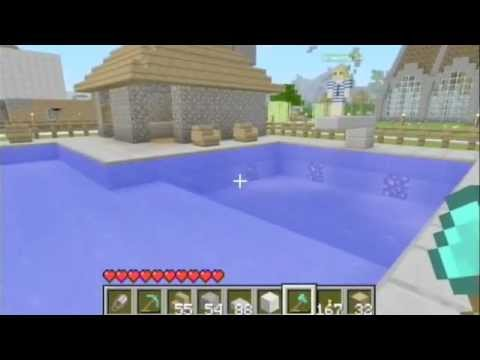 Minecraft: Public Pool w/ Diving Board & Volleyball Court on Xbox 360
