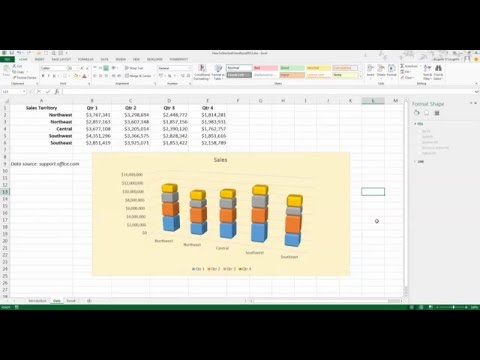 How To... Create and Modify a Stacked Bar Chart in Excel 2013
