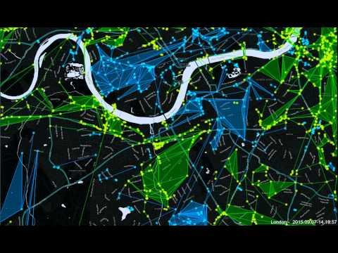Ingress London 24hr time lapse   07 09 2015