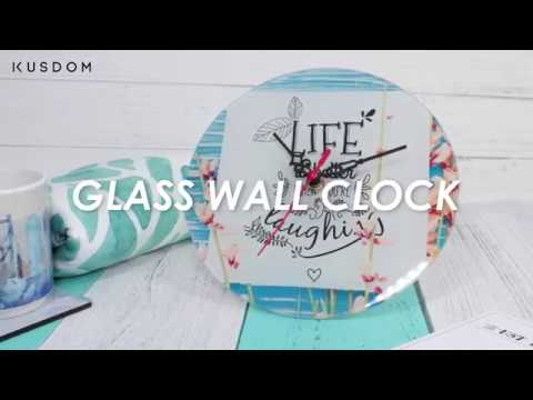 Glass Wall Clock - Design Your Own