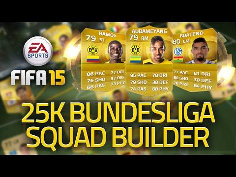 FIFA 15 ULTIMATE TEAM BUNDESLIGA SQUAD BUILDER! 25K CHEAP SQUAD! FUT 15!