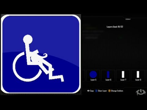 Call of Duty Black Ops 2 Emblem Editor Tutorials - Black Ops 2 - Handicap Emblem Tutorial ( The Blow ) Playercard Xbox 360 PS3 WiiU